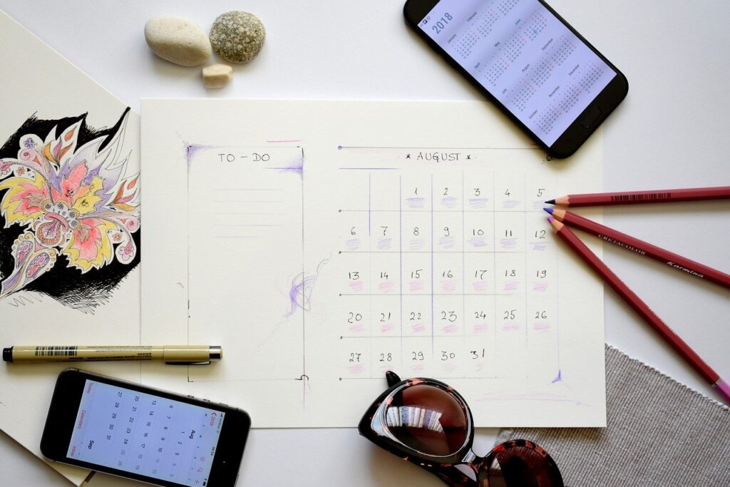 planner, plan, planning for a perfect routine