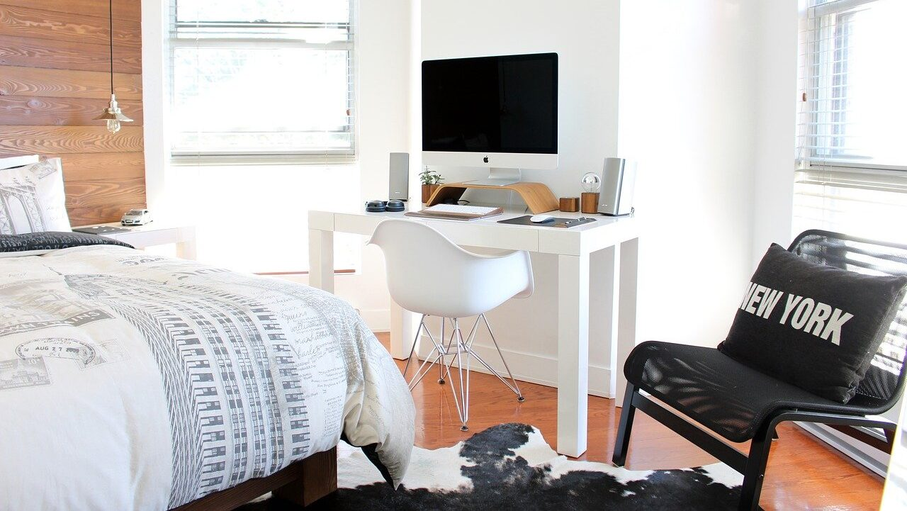 bed, bedroom, chairs, declutter, Sunday routine