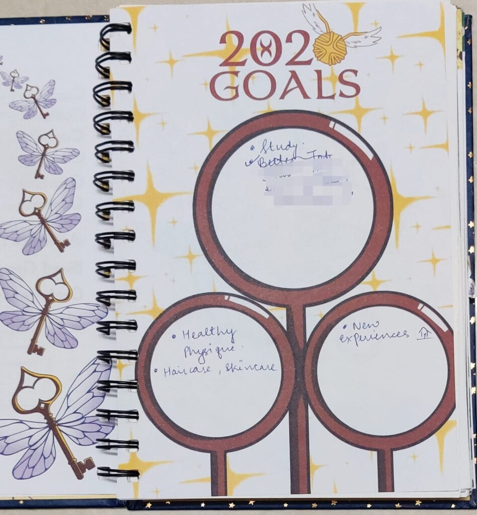 new year goals, bullet journal spreads